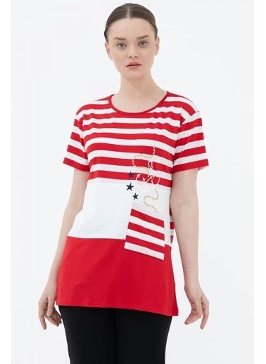 Sementa Rahat Kalıp Marine Bluz - Kırmızı Kırmızı
